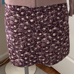 Loft purple skirt with pockets